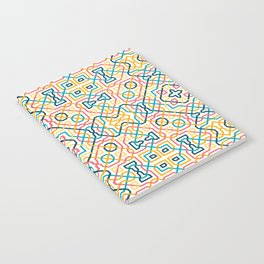 Geometric line seamless pattern Notebook