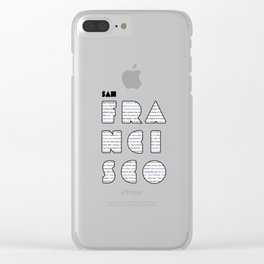 San Francisco in writing Clear iPhone Case
