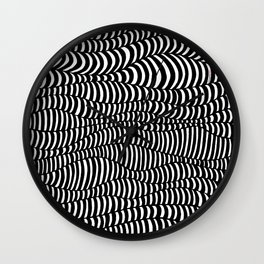 Black and White surreal lines. Inspired by art of Escher Wall Clock