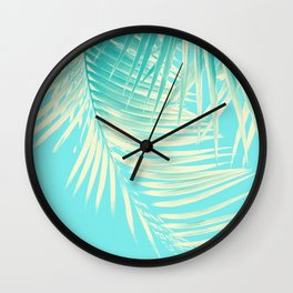 Palm Leaves Summer Vibes #4 #tropical #decor #art #society6 Wall Clock