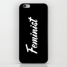 Feminist (on black) iPhone & iPod Skin