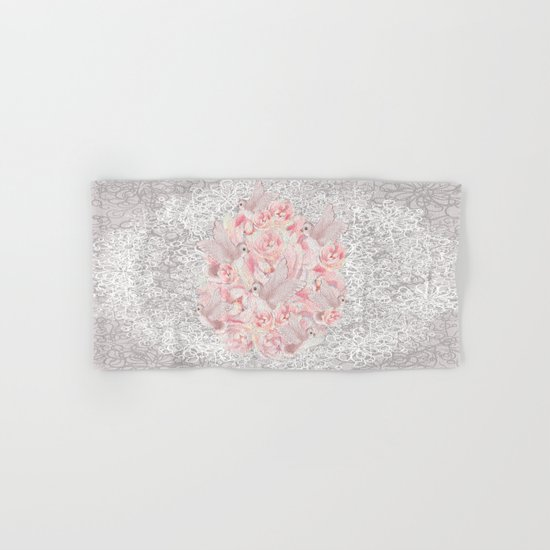 Rose Birds Hand & Bath Towel