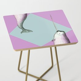 Narwhal Geometric Bright and Colorful Side Table