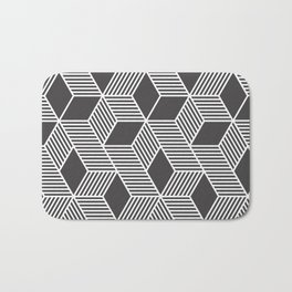 Geometric Cube 02 Bath Mat