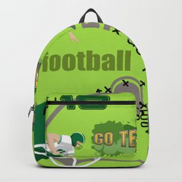 I Love Football! Sports, Football, Game Day Backpack