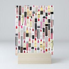Lipsticks Makeup Collection Illustration Mini Art Print