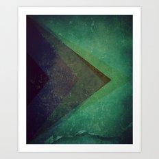 Muted Pyramids Art Print
