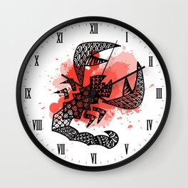 Zodiac Zentangle - Scorpius Wall Clock