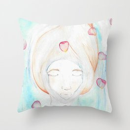 Let Your Worries Down the Drain Throw Pillow