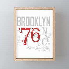 Brooklyn Jersey New York City Gift NYC Apparel Athletic Wear Framed Mini Art Print