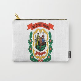 flag west virginia,america,us,south,Mountain, Virginian,Charleston,Huntington,Morgantown,Parkersburg Carry-All Pouch