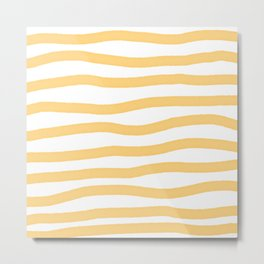 Yellow lines Metal Print