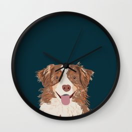 Hollis - Australian Shepherd gifts for dog owners pet lovers dog people gifts for dog person Wall Clock