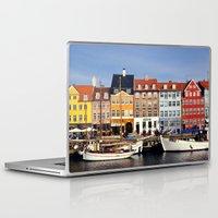 copenhagen Laptop & iPad Skins featuring Copenhague // Copenhagen - Nyhavn by Alexander JE Bradley
