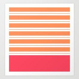 Popsicle Stripes Art Print