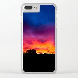 Sunset, Rural Australia. Clear iPhone Case