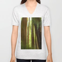 Redwood Abstract Unisex V-Neck