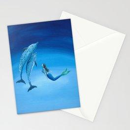 Mermaid & Dolphin - No. 3 Stationery Cards