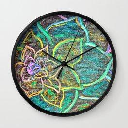 Vibrant Flower Wall Clock