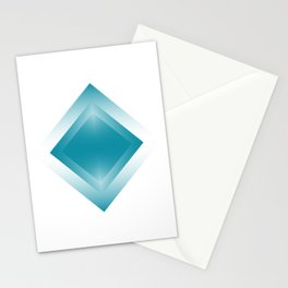blue color energy vibration Stationery Cards