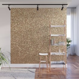 Copper Rose Gold Metallic Glitter Wall Mural