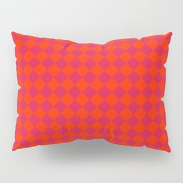 Scarlet Red and Crimson Red Diamonds Pillow Sham