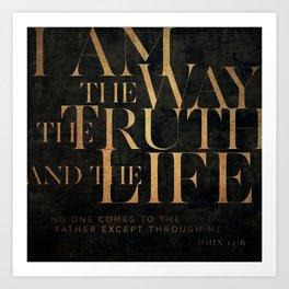 John 14:6 II Art Print