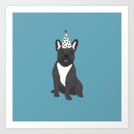 Dog Collection: Birthday Frenchie Art Print