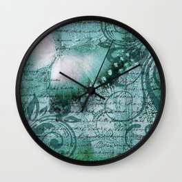 LE PAPILLON | teal Wall Clock