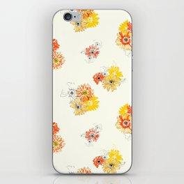 Sun Flowers Floral Pattern iPhone Skin