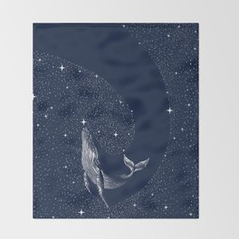 starry whale Throw Blanket