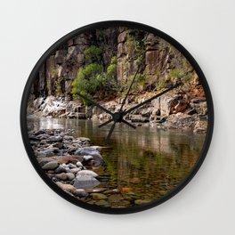 Rocky Stream Wall Clock