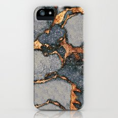 GREY & GOLD GEMSTONE iPhone SE Slim Case