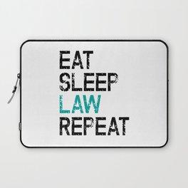 Eat Sleep Law Repeat Lawyer Judge Jurist Laptop Sleeve
