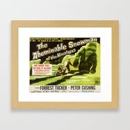 The Abominable Snowman of Himalayas, vintage horror movie poster Framed Art Print