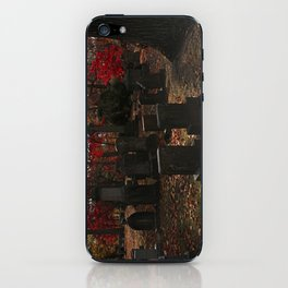 Cemetery Red iPhone Skin