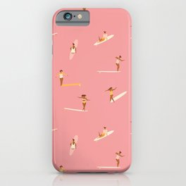 Surf girls in pink iPhone Case