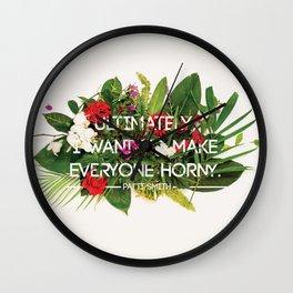Make Everyone Horny Wall Clock