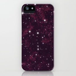 Burgundy Space iPhone Case
