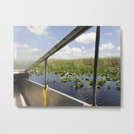 Keep your hands in the boat, ladies and gentlemen. Metal Print