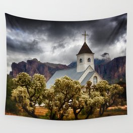 A Stormy Desert Afternoon Wall Tapestry