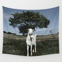 goat Wall Tapestries featuring Goat by Ana Francisconi
