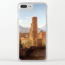 Christen Schjellerup Købke The Forum, Pompeii, with Vesuvius in the Distance Clear iPhone Case