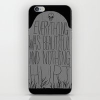 vonnegut iPhone & iPod Skins featuring slaughterhouse V - everything was beautiful - vonnegut by miles to go