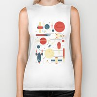 stickers Biker Tanks featuring Space Odyssey by Tracie Andrews