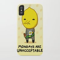 lemongrab iPhone & iPod Cases featuring Yay Monday, Lemongrab by fablefire
