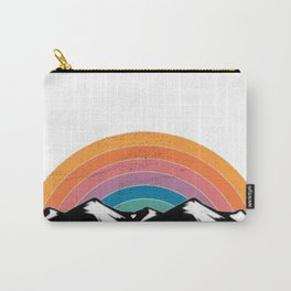 Rainbow Mountains Distressed Seventies Design Carry-All Pouch