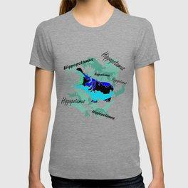 Hippopotamus Blue T-shirt