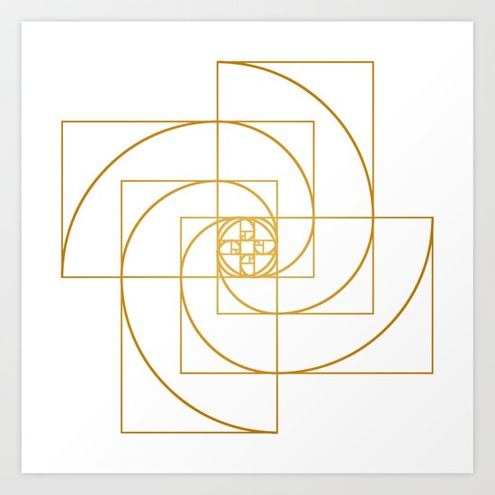 Golden Pinwheel Art Print