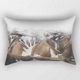Iceland Snow and Mountains Rectangular Pillow